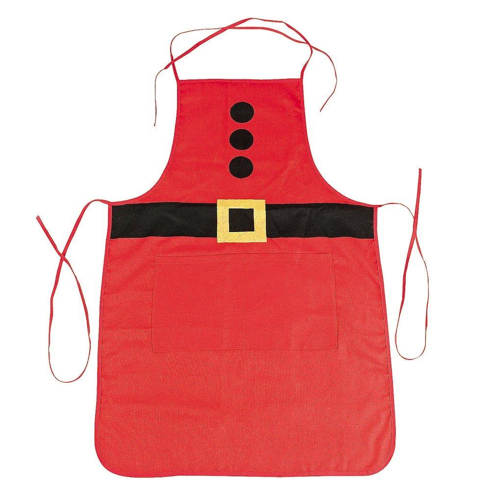amazoncom adult santa apron christmas home kitchen - Christmas Apron