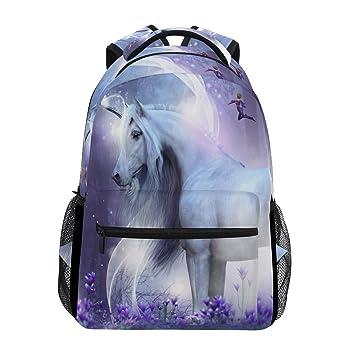 JSTEL Unicorn Fairies Magic Sparkles School Backpacks for Girls Kids  Elementary School Shoulder Bag Bookbag 3240a8038e