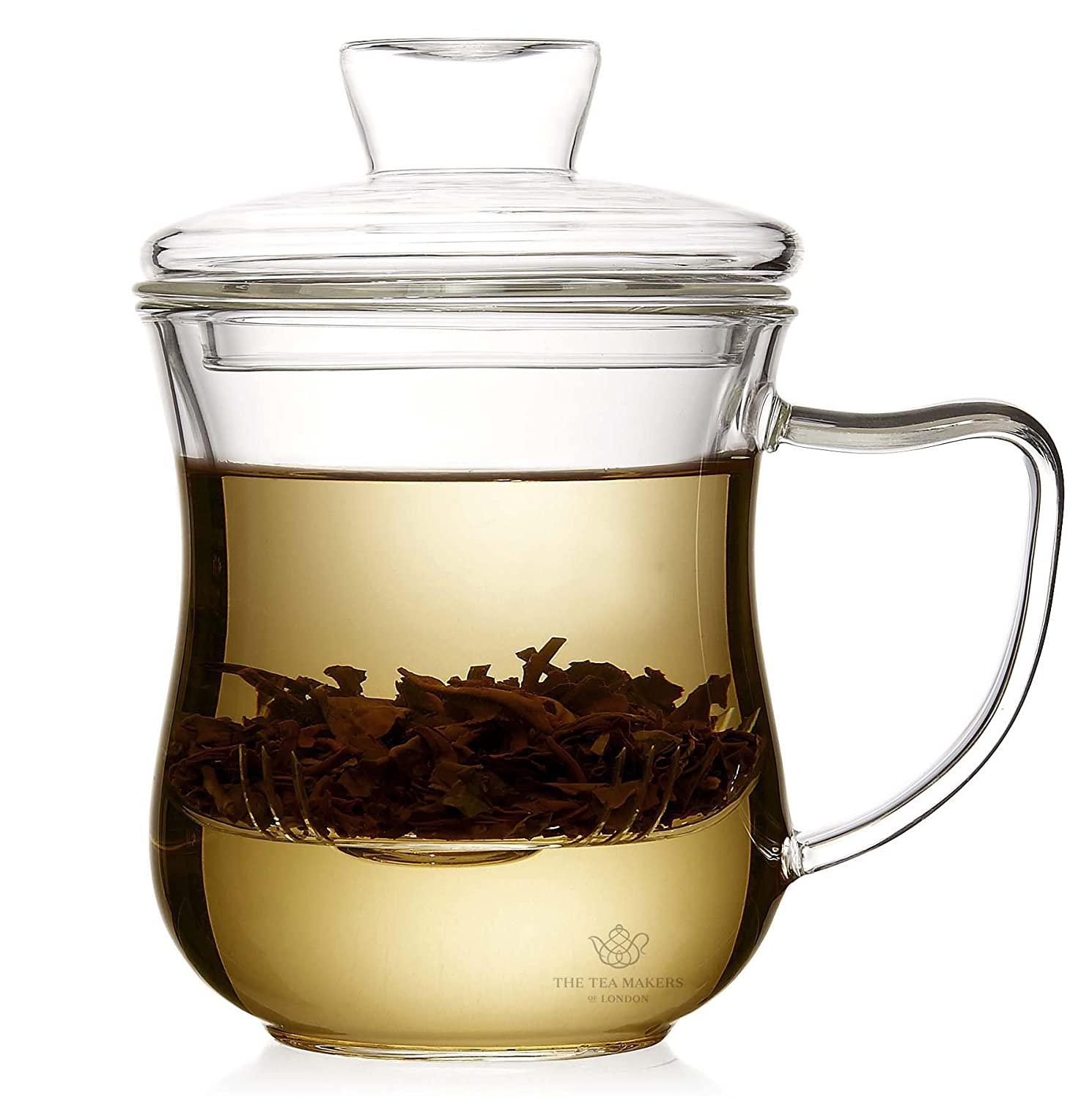 Glass Cup with Glass Strainer and Lid for Loose Leaf Teas - 300ml