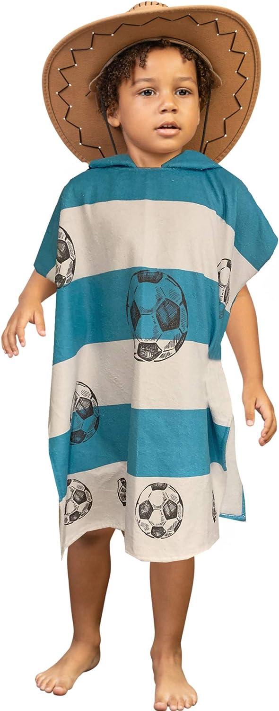 HOMELEVEL Asciugamano da bagno Poncho Baby Poncho per bambini in cotone misto cotone Velour Terry con cappuccio