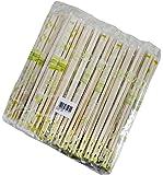 割らずに使える 竹 角箸 竹ポリ完封 楊枝入 100膳 割れていて使いやすい P-441