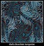 "Candi Andi - 6"" Heart Sachet Pillow - Satin Brocade - Lavender Scented - Dark Chocolate Turquoise - SH6-DT"
