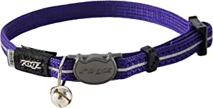 Rogz Alleycat Safeloc Collar Purple 8mm