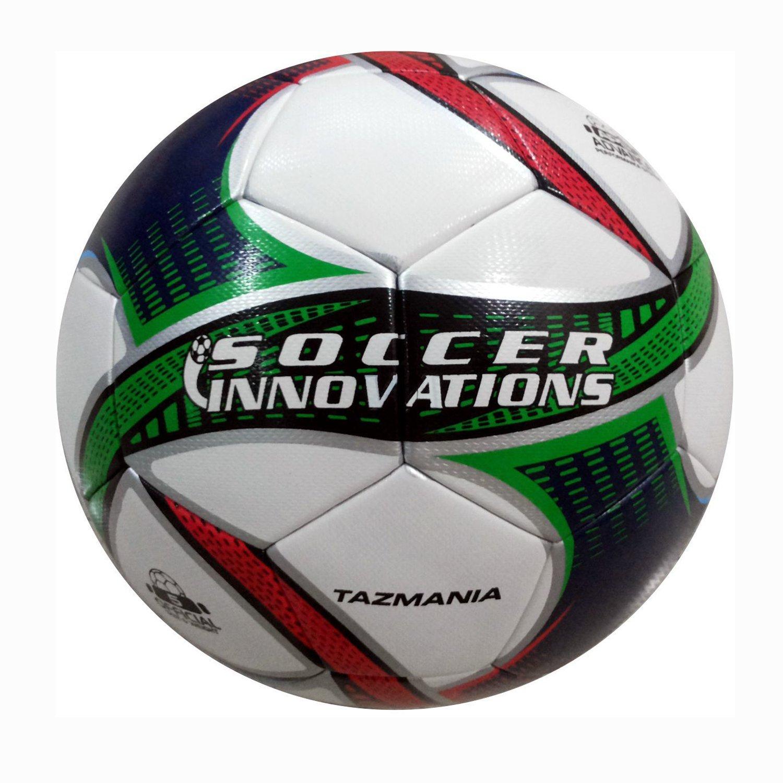 Size 5 Soccer InnovationsTM 9912-VTB Soccer Innovations Tazmania Seamless Thermo Soccer Ball White//Red//Blue//Green