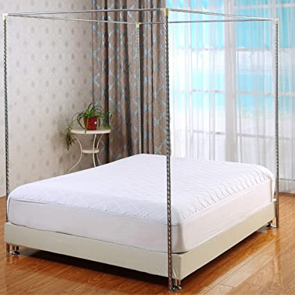 Amazon.com: Taiyucover 4 Corner Bed Canopy Frame Post Bracket-Twin ...