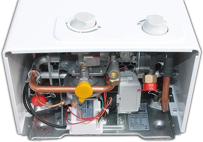 TTulpe Propangas-Durchlauferhitzer Indoor B-14 P37 Eco calentador a gas propano/butano 14 litros, 1.5 V, Blanco