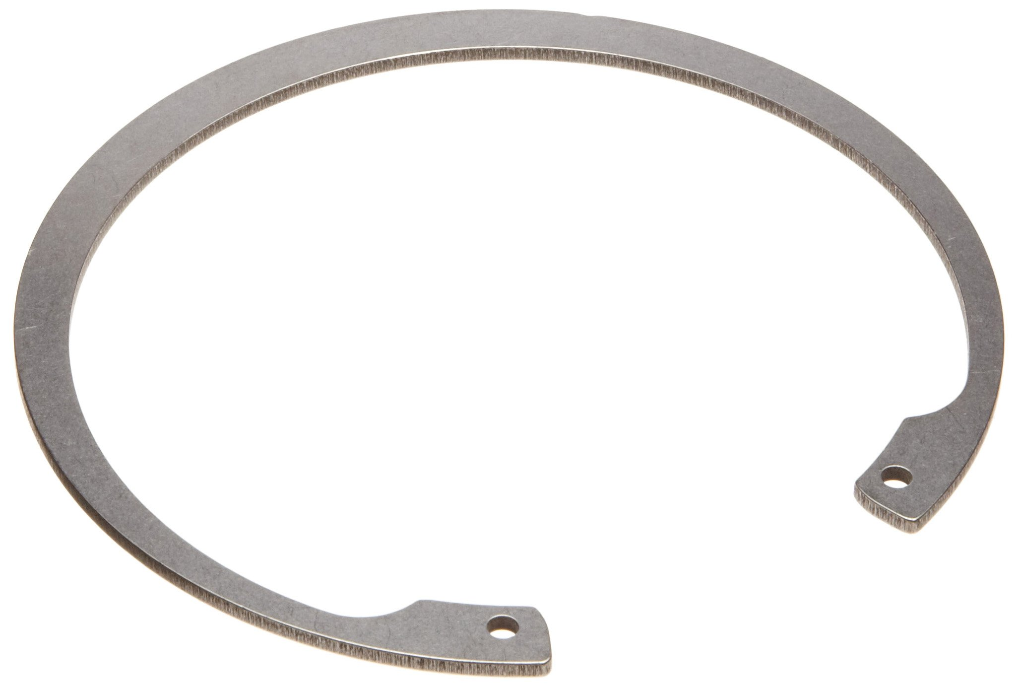 Standard Internal Retaining Ring, Tapered Section, PH17-7 Stainless Steel, Passivated Finish, 4'' Bore Diameter, 0.109'' Thick, Made in US