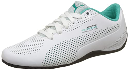 4775f4dae51ecc Puma Unisex MAMGP Drift Cat 5 Ultra White and Deep Teal Sneakers - 9 ...