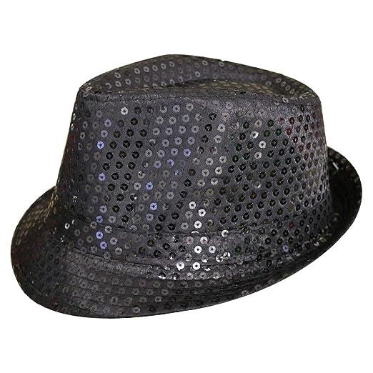 TOOGOO(R) Sequin Trilby Hat Top Hat Fancy Dress Party Hen Stag Night Dance e2276ba4897