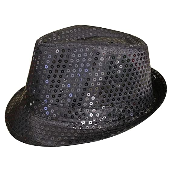 TOOGOO(R) Sequin Trilby Hat Top Hat Fancy Dress Party Hen Stag Night Dance  Theatre Shows 461390b3e931