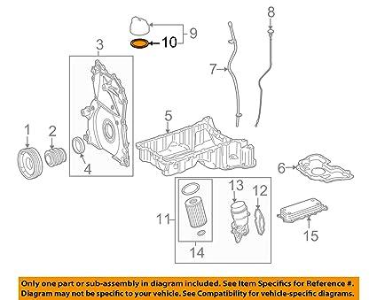 amazon com: mercedes-benz 642 018 01 80, engine oil filler cap gasket:  automotive