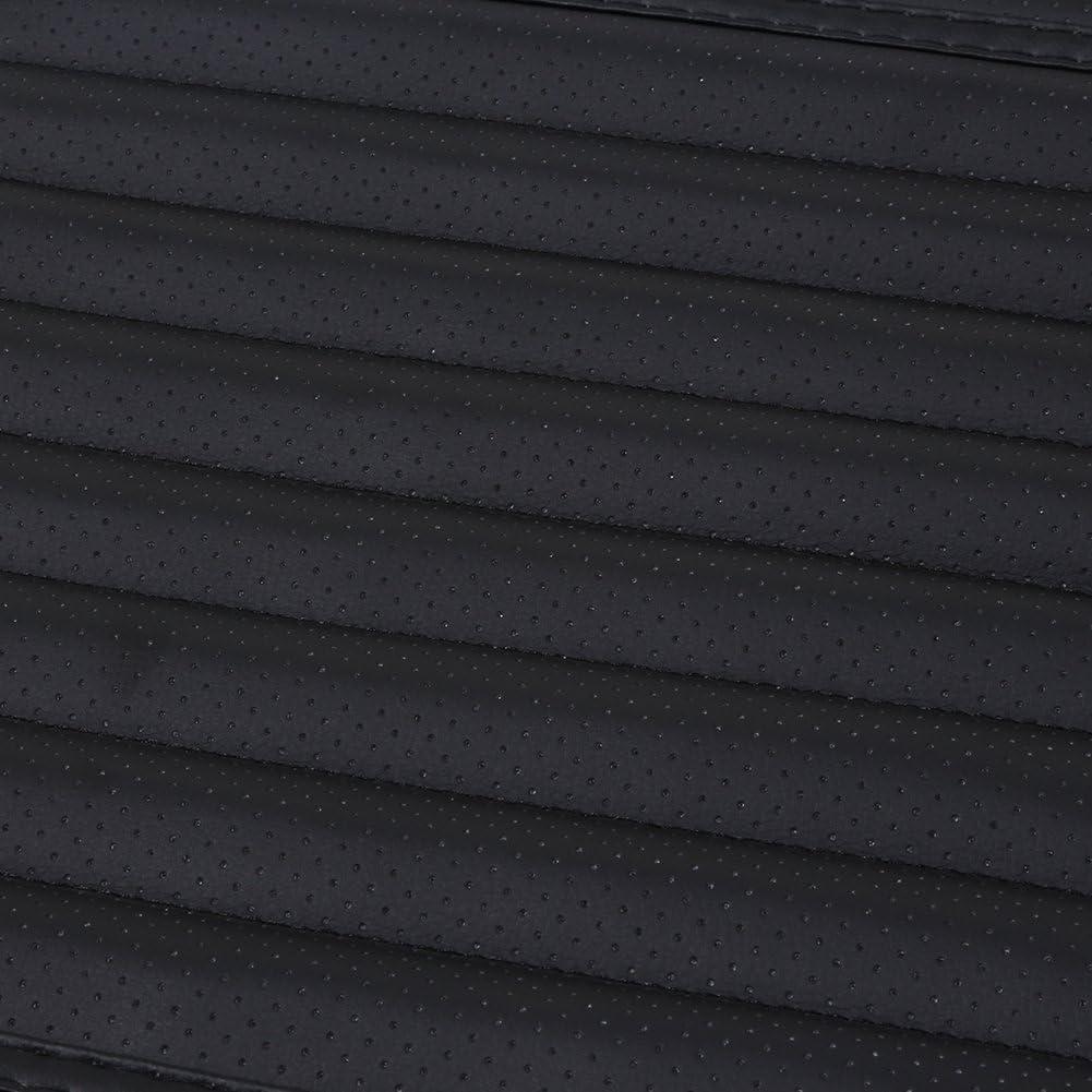 negro Coche Coj/ín Universal Almohadillas Coche Cubre Bamb/ú Carb/ón PU Cuero Parai