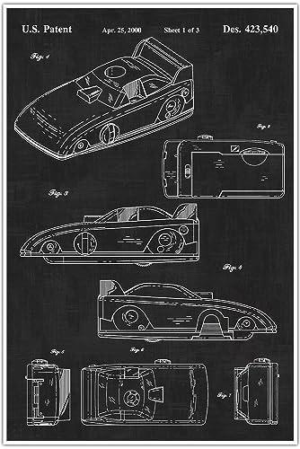 Amazon funny race car blueprint patent patent poster funny race car blueprint patent patent poster blueprint poster art gift malvernweather Choice Image