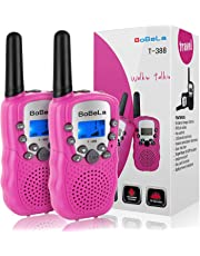 Walkie Talkie for Kids as Christmas Gift, Friendly 22 Channels Two Way Radios for Girl with Built in Flashlight Mic Vox Clip Long Range Walky Talky Toy for Children Role Play Games (Pink 2 Pack)