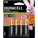Pilha Recarregável AA Pequena DURACELL com 4 unidades, Duracell, pacote de 4