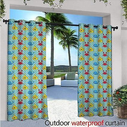 Amazon.com: Cortina para ventana, diseño de submarino ...