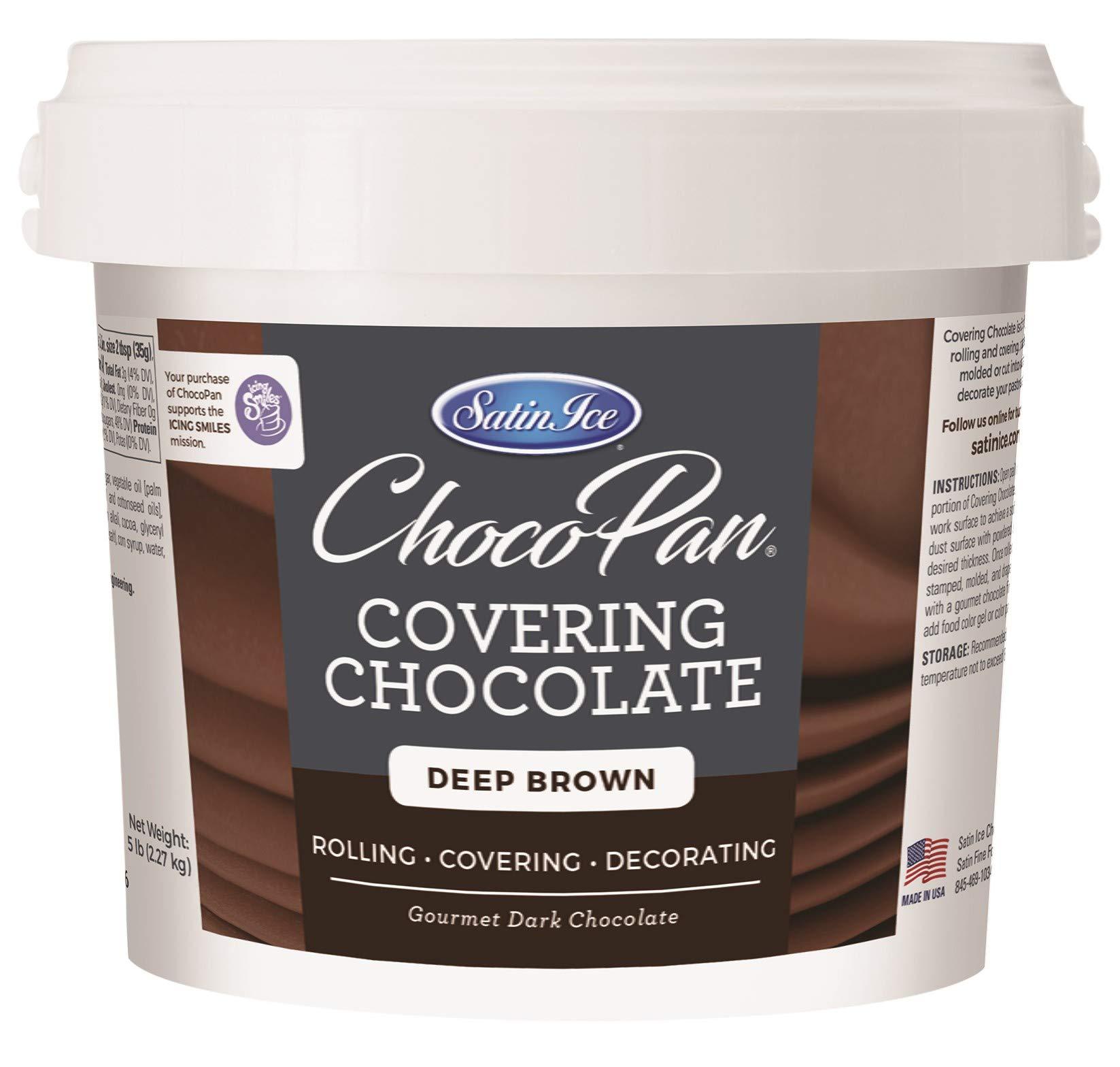 Satin Ice ChocoPan Deep Brown Covering Chocolate, 5 Pounds