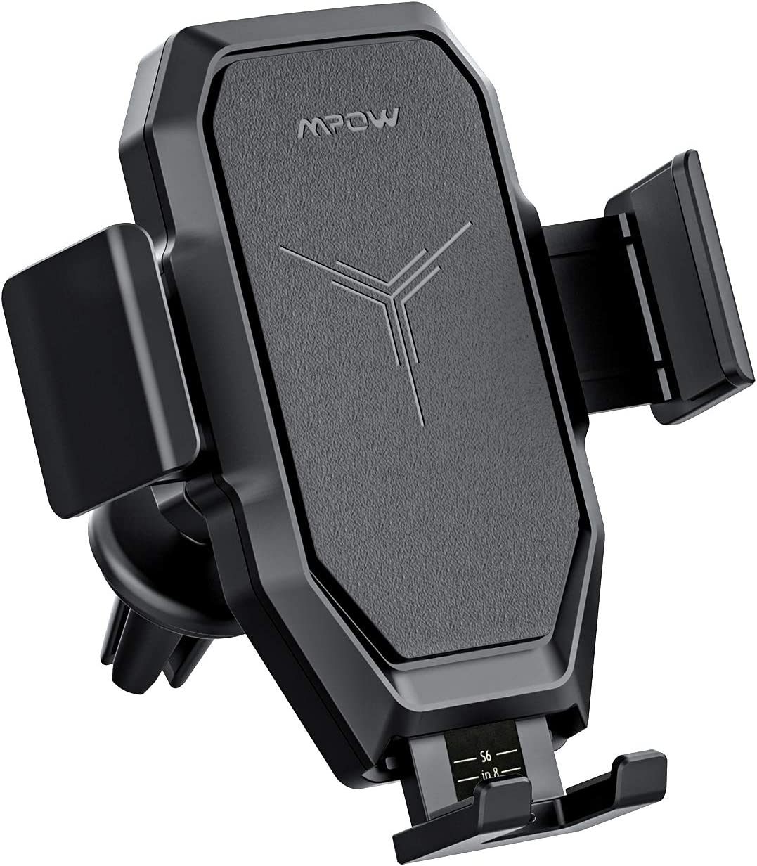 Samsung Galaxy S20 S10+ S9+ S8 Note 9 Mpow Wireless Car Charger Mount Compatible iPhone 11 Pro MAX//XS MAX//XS//XR//X8 Plus Fast Auto Charging Air Vent Phone Holder 10W, 7.5W 5W