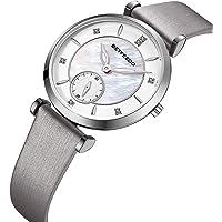 Betfeedo Women's Leather and Steel Quartz Wrist Watch