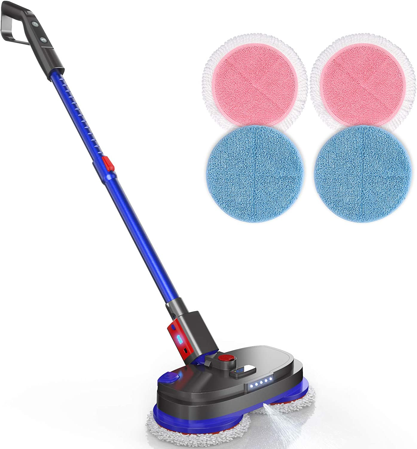 Cordless Electric Spin Mop, Spray Mop for Floor Cleaning with 265R/min Speed, Polisher with Built-in 300ml Water Tank for Hardwood & Tile & Marble & Laminate Floors, Scrubber with LED Headlight: Health & Personal Care