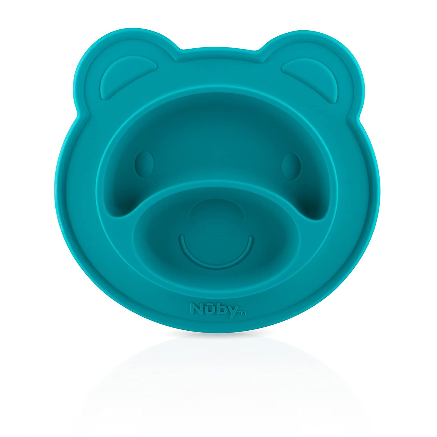 Nuby 537076BL Sure Grip Silicone Miracle Mat Section Bear Plate, Blue