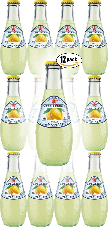 San Pellegrino Limonata Sparkling Lemon Flavoured Beverage, 6.75 Oz Glass Bottle (Pack of 12, Total of 81 Oz)
