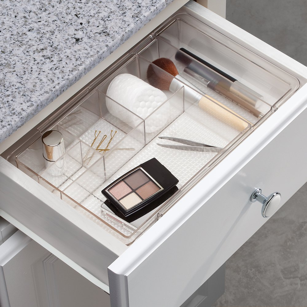 Amazon.com: InterDesign Expandable Cosmetic Drawer Organizer for ...