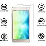 EQORT 2.5D High Definition 9H Hardness Anti-Fingerprint Bubble-free Screen Fitted 0.33 mm Tempered Glass for Samsung Galaxy On5 Pro - (Transparent)