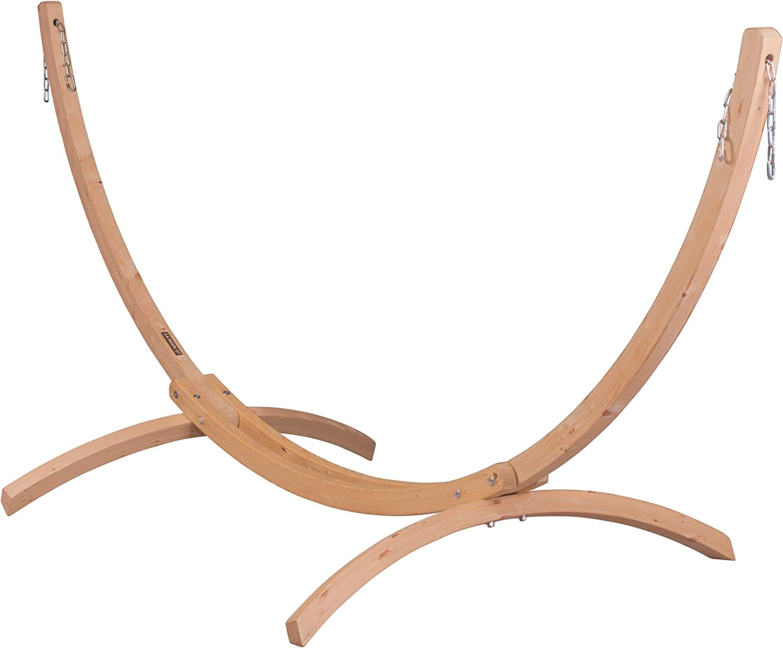 Supporto telaio base in abete FSC certificato per amaca doppia La Siesta Canoa Caramel