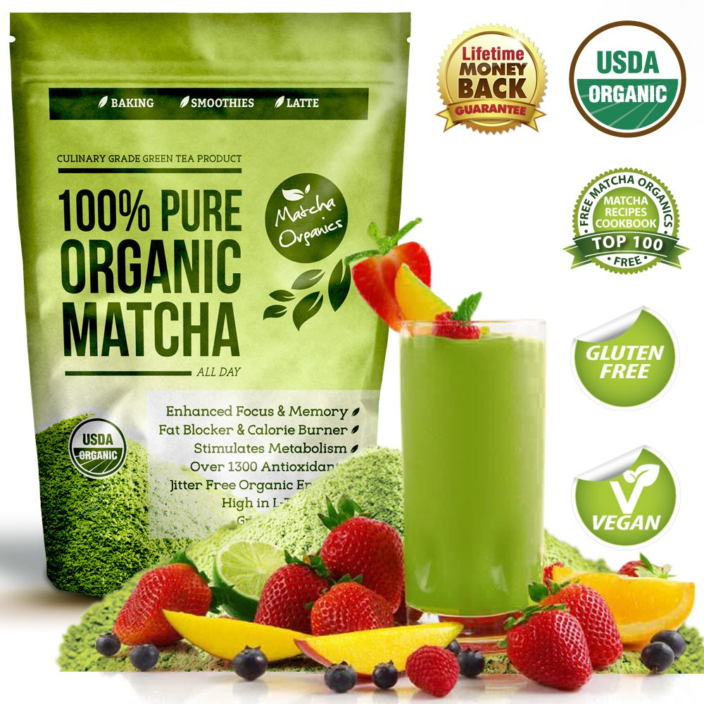 Matcha Green Tea Powder All Natural Weight Loss Metabolism Booster And Diet S.. 20