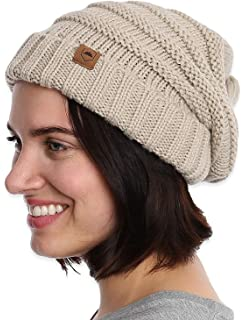 41150410627 Amazon.com  Brook + Bay Slouchy Cable Knit Cuff Beanie - Stay Warm ...