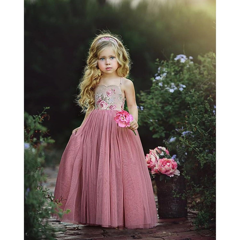 Baby Kleid Mädchen Prinzessin Kleider Geburtstag Tutu Tüll Bowknot ...