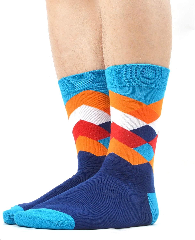 WeciBor Calcetines Hasta La Pantorrilla Para Hombre Estampados Hombres Ocasionales Calcetines Divertidos Impresos de Algod/ón de Pintura Famosa de Arte Calcetines de Colores de moda