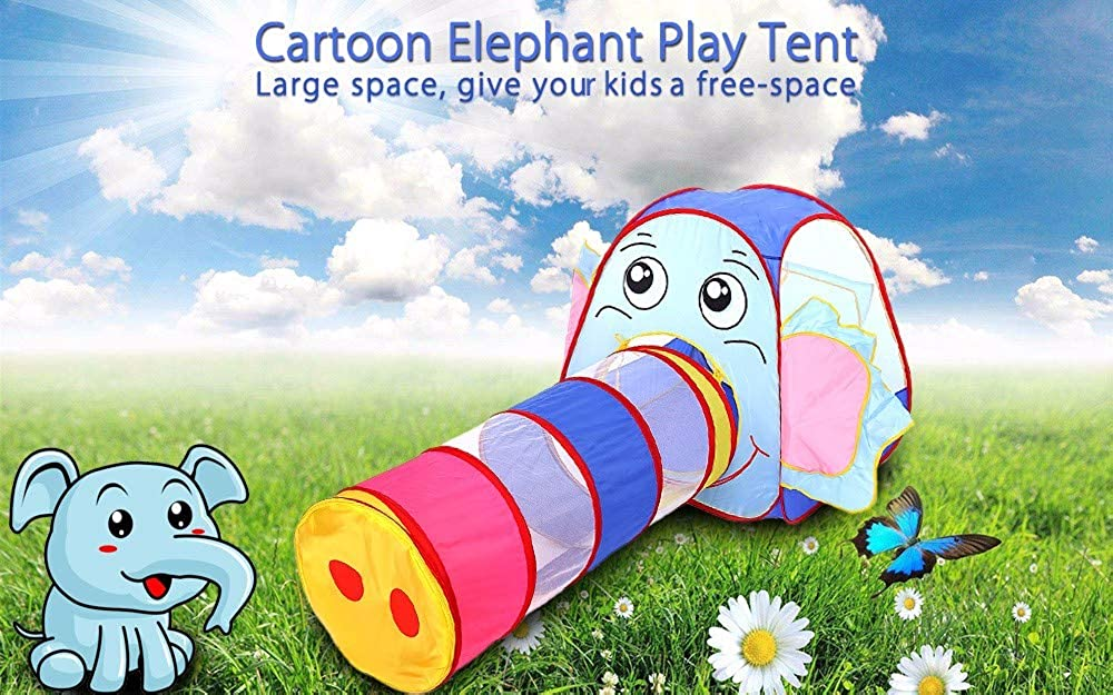 EISHOW Kids Play Tent Tunnel Outdoor Playhouse Portable Pop Up Tunnel Tent Kit