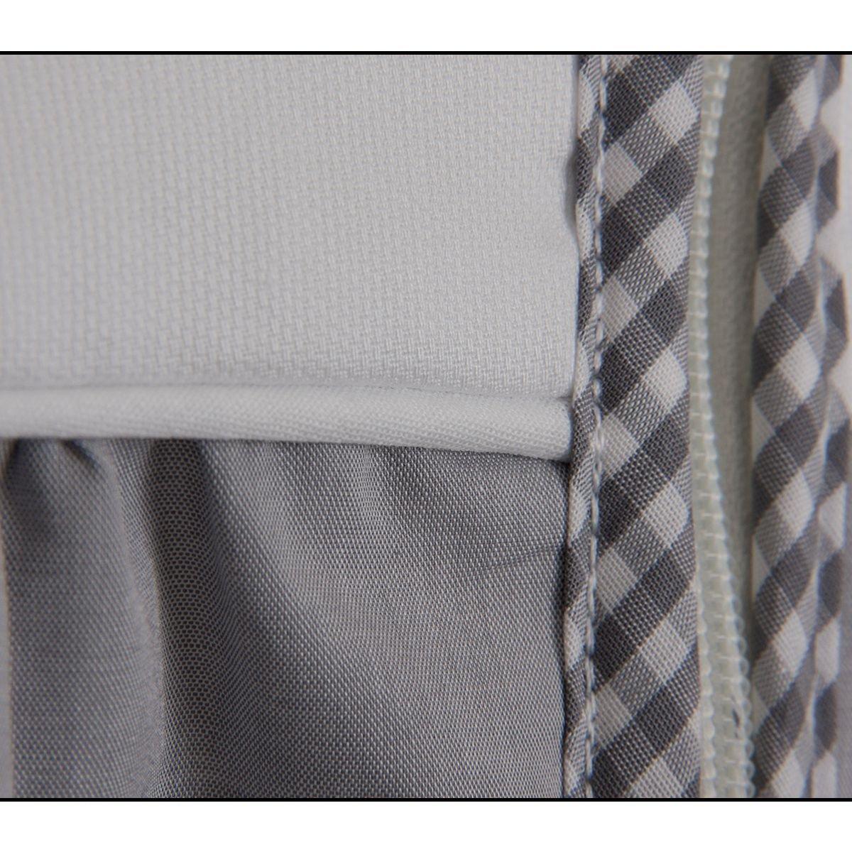 100/% Baumwolle + Frottee Sommerschlafsack LILLY 90 cm GRAU Schlafsack
