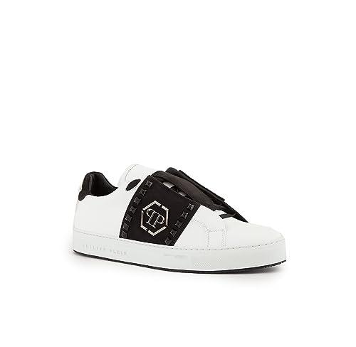 arte squisita scegli ufficiale qualità affidabile Philipp Plein Sneaker Uomo The Night We Met in Pelle Bianca ...