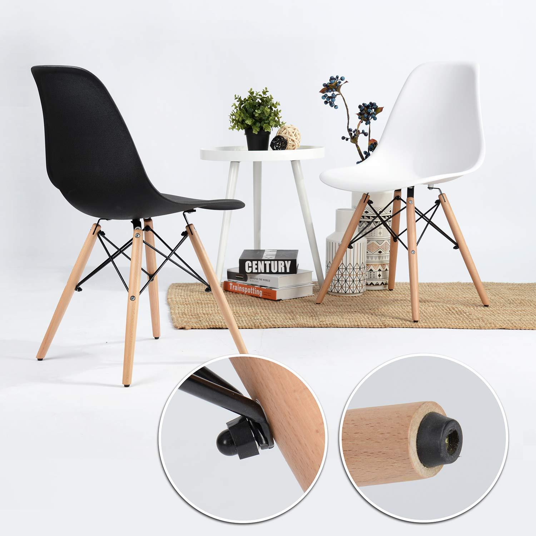 iHouse - Juego de sillas de Comedor (4 Piezas, Altura de Madera ...
