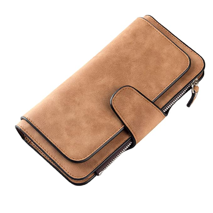 Amazon.com: Famous Wallets - Cartera de piel larga para ...