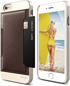 iPhone 6S Case, elago [Outift Pocket][Champagne Gold/Brown] – [Card Slot][Handmade Leather][Premium Hybrid Construction]– for iPhone 6/6S