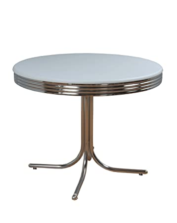 target dining room chairs marketing systems round retro table chrome accents white pads tables and