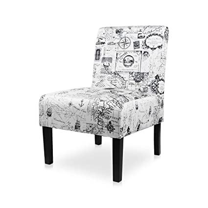 Pleasant Aodailihb Armless Accent Chair Modern Fabric Printing Leisure Chair Single Sofa Deco Living Room Bedroom Office Armless Chair Map 1Pcs Gmtry Best Dining Table And Chair Ideas Images Gmtryco