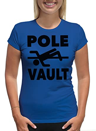 Amazon.com  Young Motto Women s POLE VAULT MID AIR BLACK T-Shirt  Clothing 93ea63b267