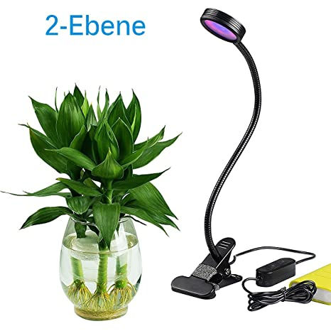 High Quality Aokey Luci Per Piante Lampada Da Coltivazione Regolabile Da Interno LED 8 W  Intensità Regolabile Con