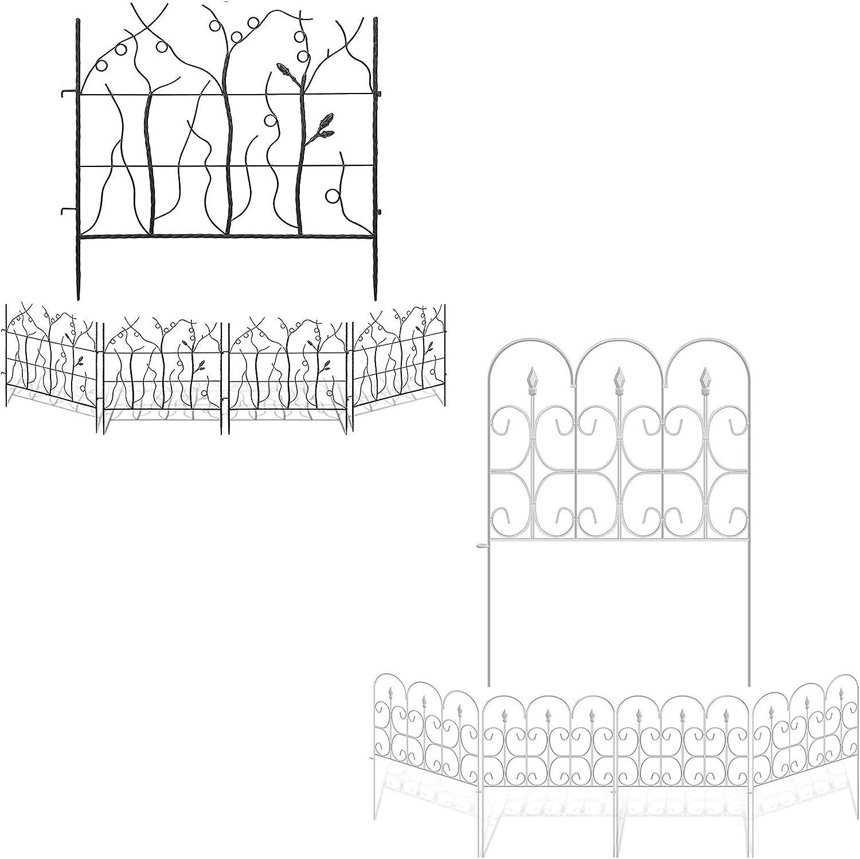 Amagabeli 27in x 12ft Garden Fence Bundle 32in x 10ft Garden Fence