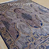Yilong 6 x9  Oriental Rugs Handmade Silk Persian Carpet Classic Gate of God Design Home Rugs (Purple) Q0737