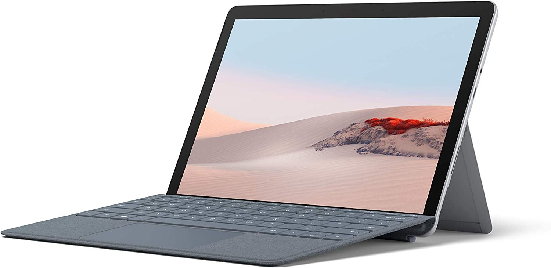 Microsoft Surface Go 2 Ordenador portátil 2 en 1 de 10.5 pulgadas Full HD, Wifi, Intel Pentium Gold 4425Y, 8 GB RAM, 128 GB SSD, Windows 10 Home Platino