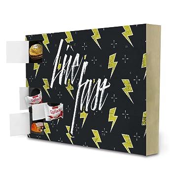 Living At Home Adventskalender advent calendar live fast retro typography by dr söd