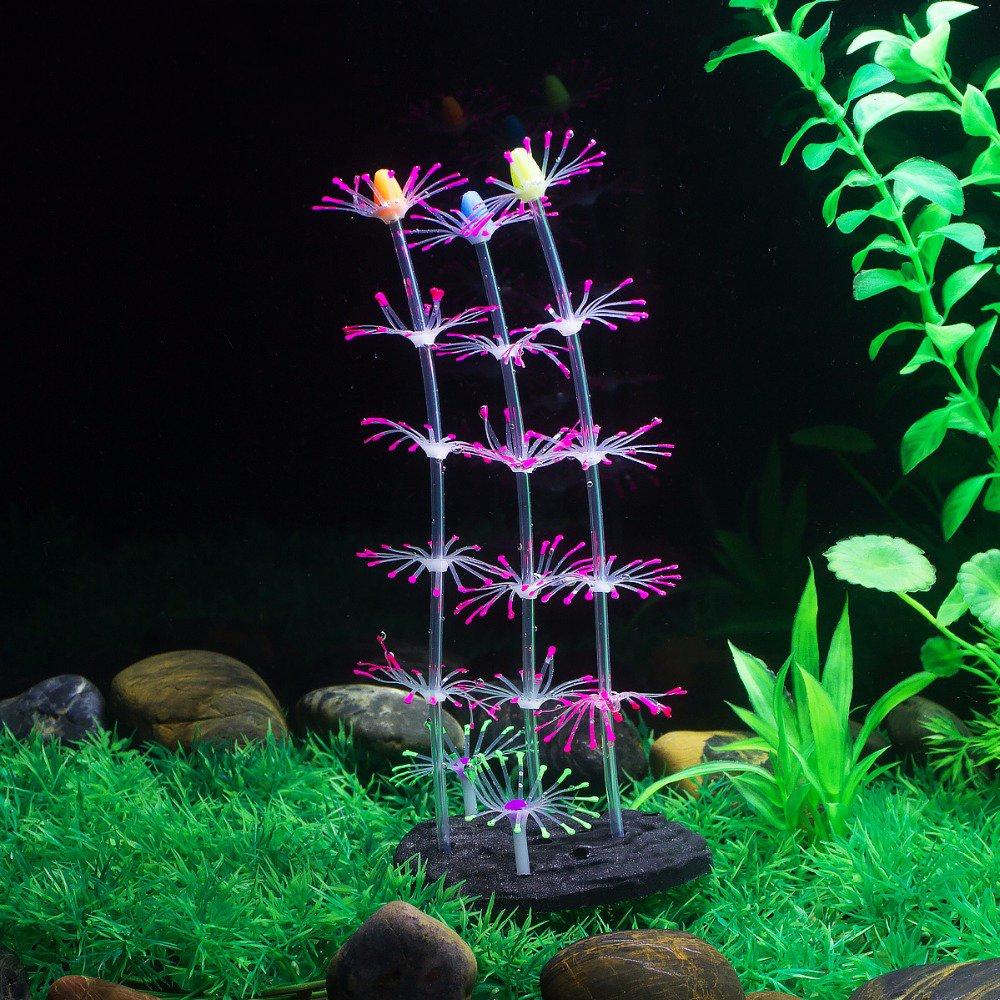 Uniclife - Adorno para plantas de coral, efecto brillante, silicona artificial, decoración para pecera, acuario, paisaje, color rosa: Amazon.es: Productos ...