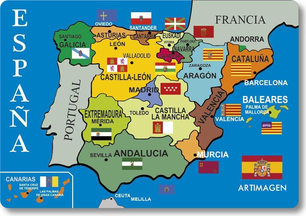 La Spagna Cartina.Artimagen Magnete Mappa Spagna 80 X 55 Mm Amazon It Casa E Cucina
