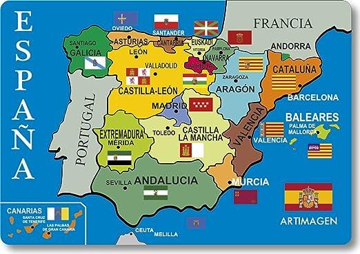 Cartina Spagna.Magnete Mappa Politica Spagna Amazon It Casa E Cucina
